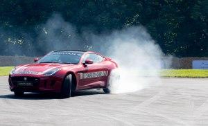 Jaguar 360 burning Rubber